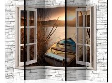 Paraván - Autumnal Lake II [Room Dividers]